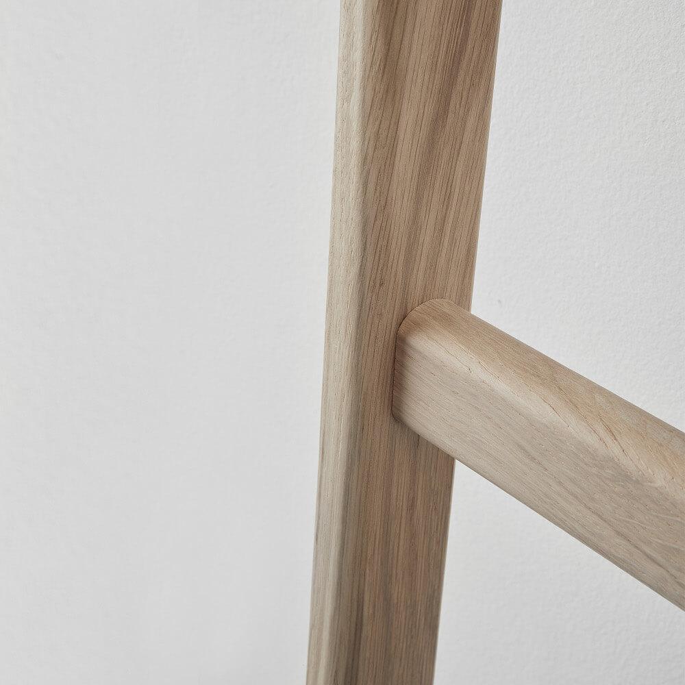 Handtuchleiter Holz Eiche Mink