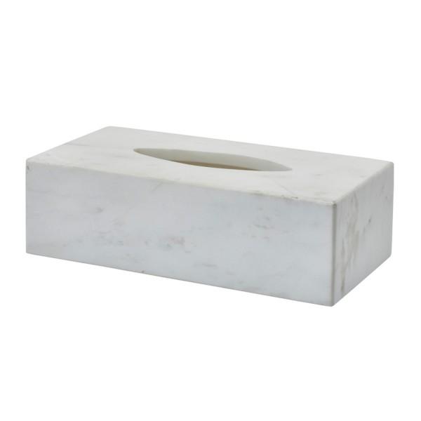Kosmetiktuchbox Marmor weiß Hammam