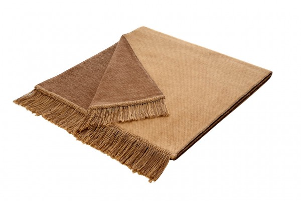 Sofaschoner Cotton Cover kamel 100 x 200 cm