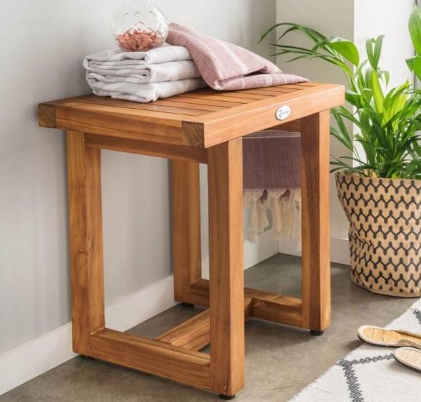 Badezimmerhocker Holz Spa