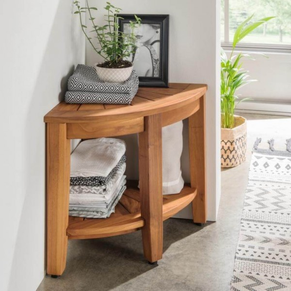 Regal Ecke aus Holz | Spa
