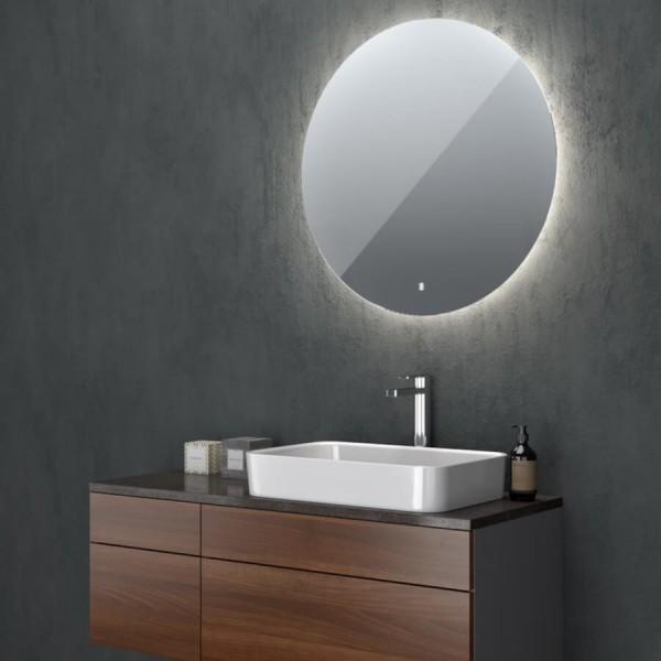 Runder Badspiegel indirekte Beleuchtung Marte