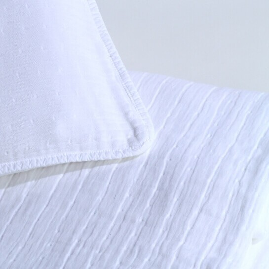Bett Tagesdecke Torino-180 x 260 cm-weiß