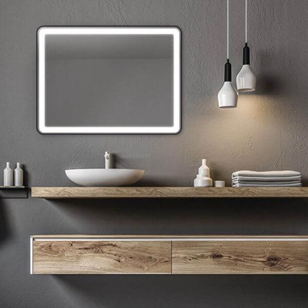 Badspiegel Ecken abgerundet Lucente