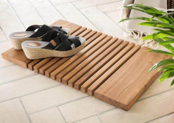 Badematte Holz aus Teak | Spa
