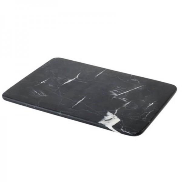 Ablage-Tablett - rechteckig Marmor anthrazit Nero