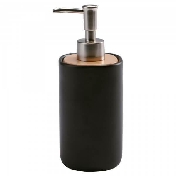 Seifenspender-Oscar-schwarz 250 ml-rund