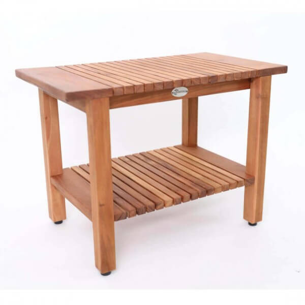 Holz Beistelltisch mit Boden