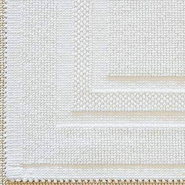 Badvorleger Raquel-76 x 127 cm-weiss