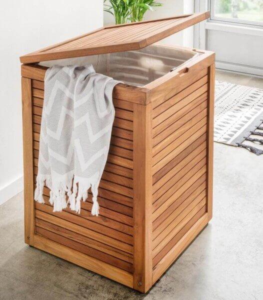 Wäschebox Holz Spa