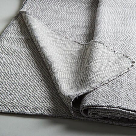 Kissenbezug Lido mit Fischgrät-Muster