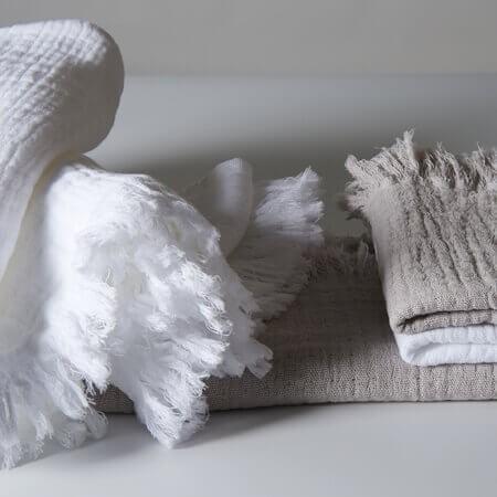 Fransen Baumwollhandtücher Torino