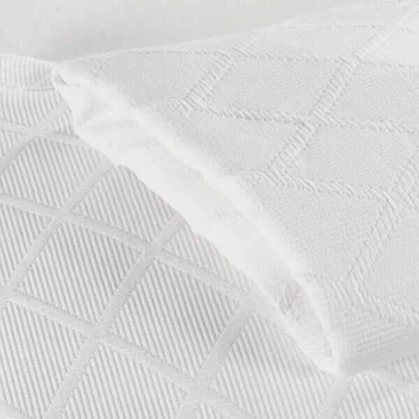 Weiße Tagesdecke aus Baumwolle Vera