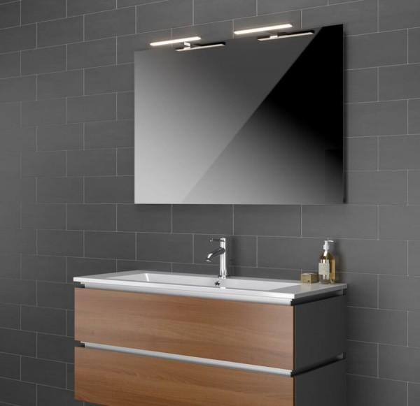 Spiegel mit LED Aufsatzleuchte Ucello