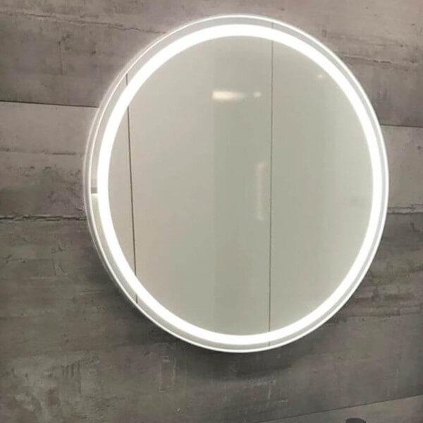 Badspiegel rund mit Licht Aurora