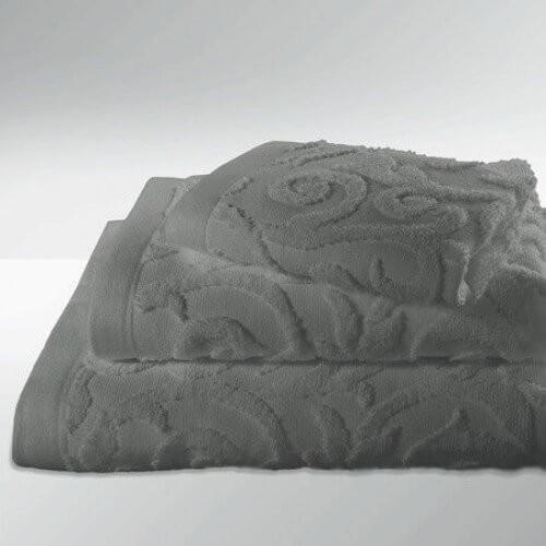 Paisley-2 Stück Gästetuch 30 x 50 cm-steel