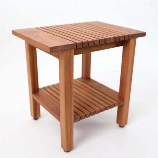 Beistelltisch aus Holz mit Boden