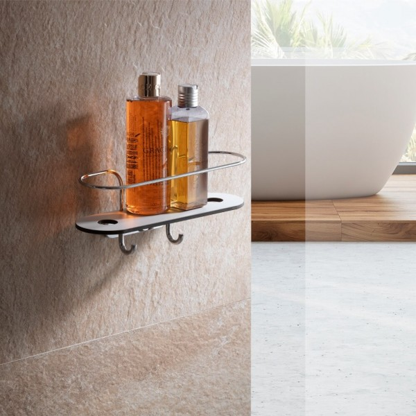 Duschablage ohne bohren mit Haken