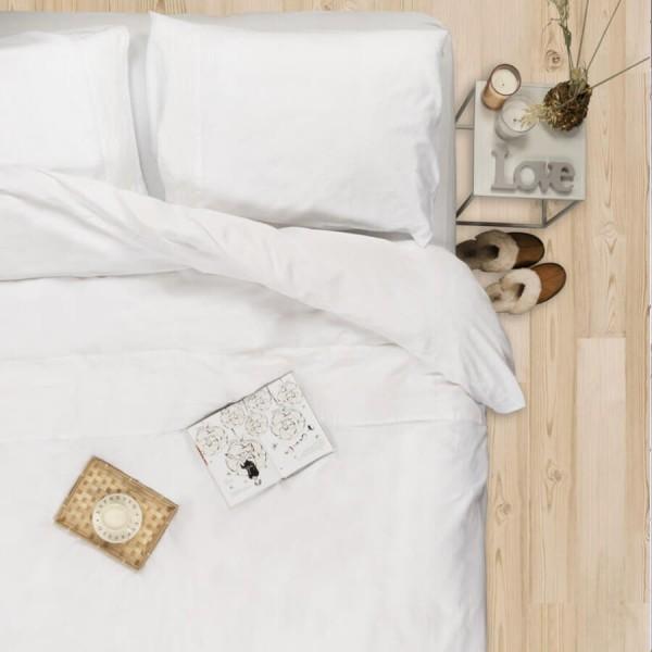 Bettwäsche aus Baumwollsatin Como