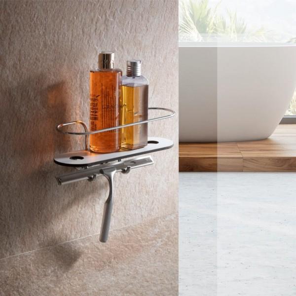 Duschablage ohne bohren mit Glasabzieher