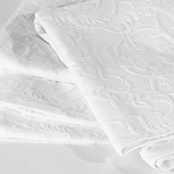 Weiße Tagesdecke Renascenca fürs Bett 180x260cm