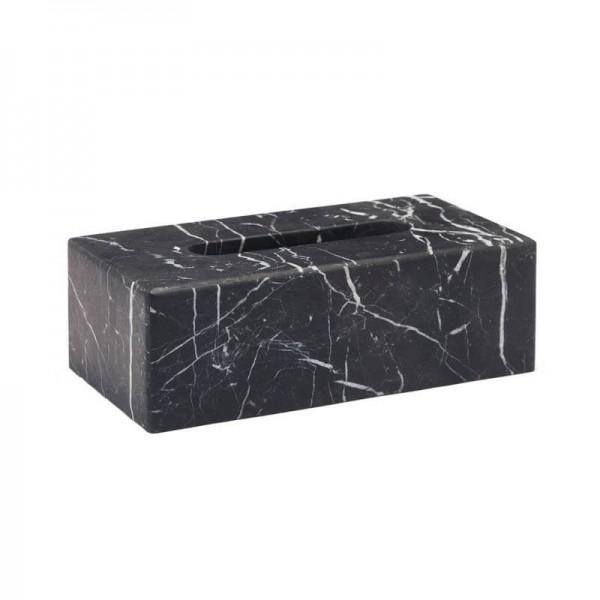 Kosmetiktuchbox schwarz Marmor Nero
