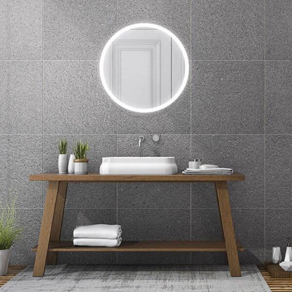 badezimmerspiegel rund beleuchtet luna  dawelbade