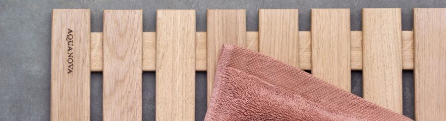 Holz Badvorleger